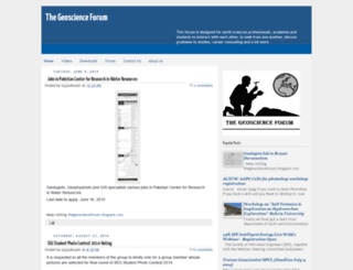thegeoscienceforum.blogspot.com screenshot