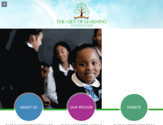 thegiftoflearningfoundation.org screenshot