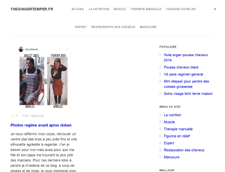 thegingertemper.fr screenshot