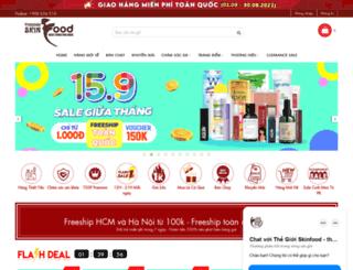 thegioiskinfood.com screenshot