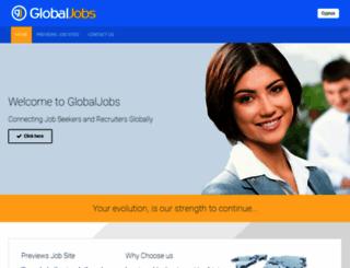 theglobaljobs.com screenshot