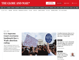 theglobeandmail.com screenshot