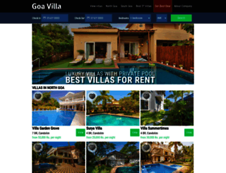 thegoavilla.com screenshot