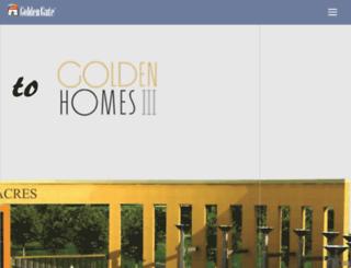 thegoldenhomes.in screenshot