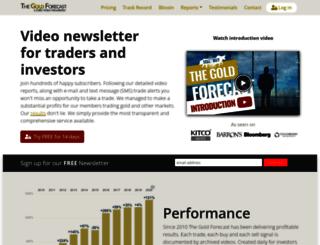 thegoldforecast.com screenshot