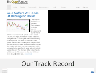 thegoldsilverforecast.com screenshot