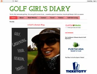 thegolfgirl.blogspot.com screenshot