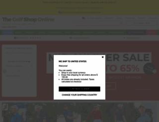 thegolfshoponline.co.uk screenshot