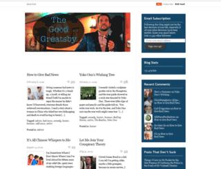 thegoodgreatsby.com screenshot