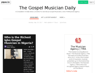 thegospelmusician.com screenshot