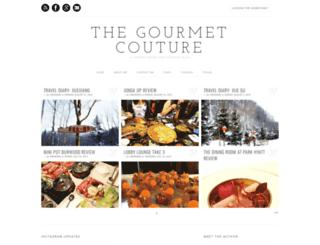 thegourmetcouture.blogspot.com screenshot