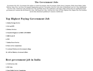 thegovernmentjob.co.in screenshot