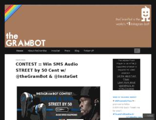 thegrambot.wordpress.com screenshot