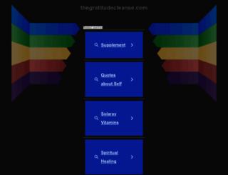 thegratitudecleanse.com screenshot