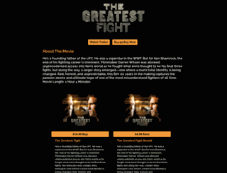 thegreatestfight.com screenshot