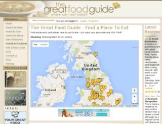 thegreatfoodguide.com screenshot