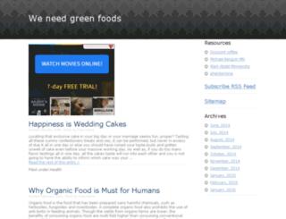 thegreenfoods.biz screenshot