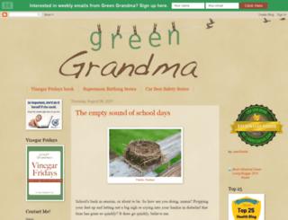 thegreengrandma.blogspot.com screenshot