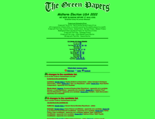thegreenpapers.com screenshot