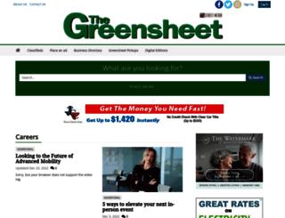 thegreensheet.com screenshot