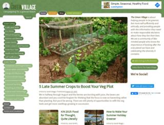 thegreenvillage.co.uk screenshot