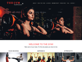 thegym.in screenshot
