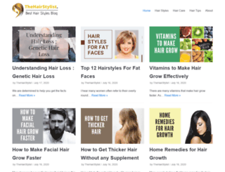 thehairstylist.net screenshot