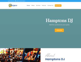 thehamptonsdj.com screenshot
