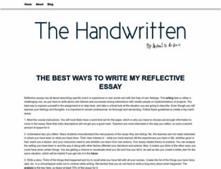 thehandwritten.com screenshot