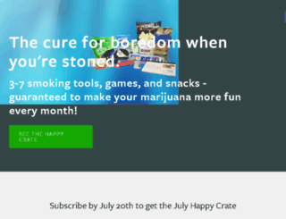 thehappycrate.com screenshot