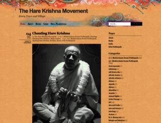 theharekrishnamovement.org screenshot