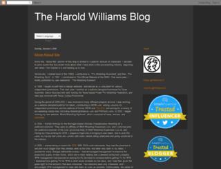 theharoldwilliamsblog.blogspot.com screenshot