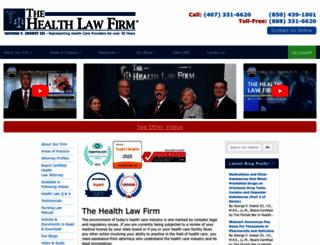 thehealthlawfirm.com screenshot