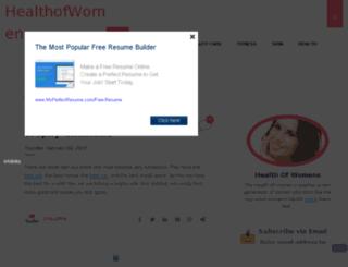 thehealthofwomens.blogspot.com screenshot