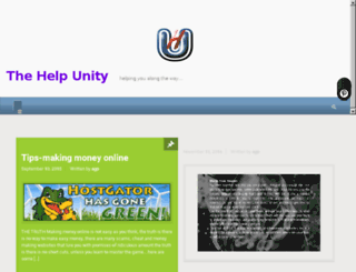 thehelpunity.com screenshot