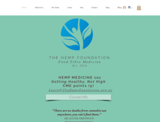thehempfoundation.org.nz screenshot