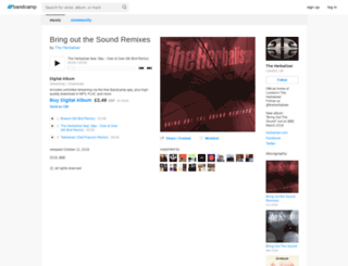 theherbaliser.bandcamp.com screenshot