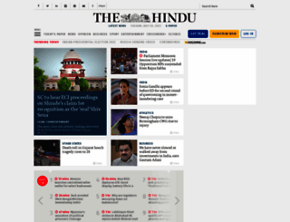 thehindu.com screenshot