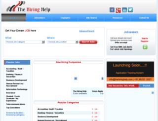 thehiringhelp.com screenshot