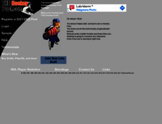 thehockeypool.com screenshot
