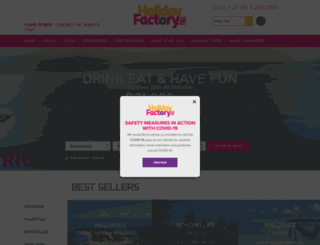 theholidayfactory.co.za screenshot
