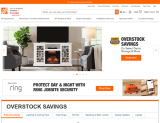 thehomedepot.com screenshot