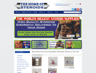 thehomeofsteroids.com screenshot
