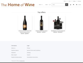 thehomeofwine.eu screenshot