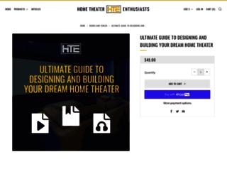 thehometheaterbook.com screenshot