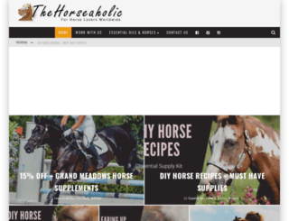 thehorseaholic.com screenshot