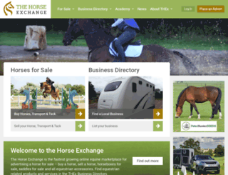 thehorseexchange.co.uk screenshot