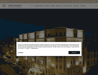 thehotelmajestic.com screenshot