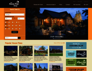 thehouseplanshop.com screenshot