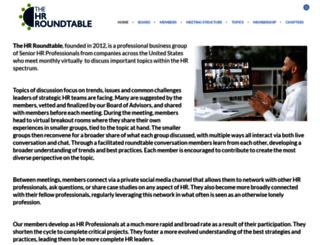 thehrroundtable.com screenshot